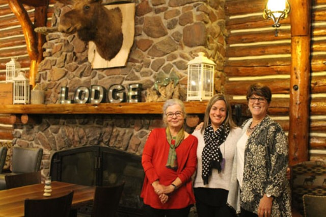 From L to R:  Laurie Swim from Lunenburg, NS; Ana Buzzalino from Calgary, AB, and Karen Kay Buckley from Carlisle, PA