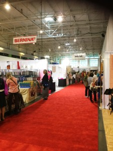 A view of the vendor area during a quiet lull