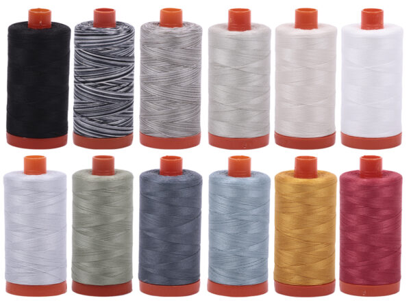 aurifil collection of threads