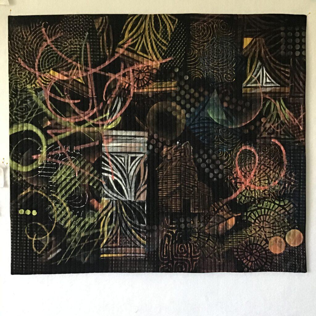 rubbings, frottage, paintstiks on fabric