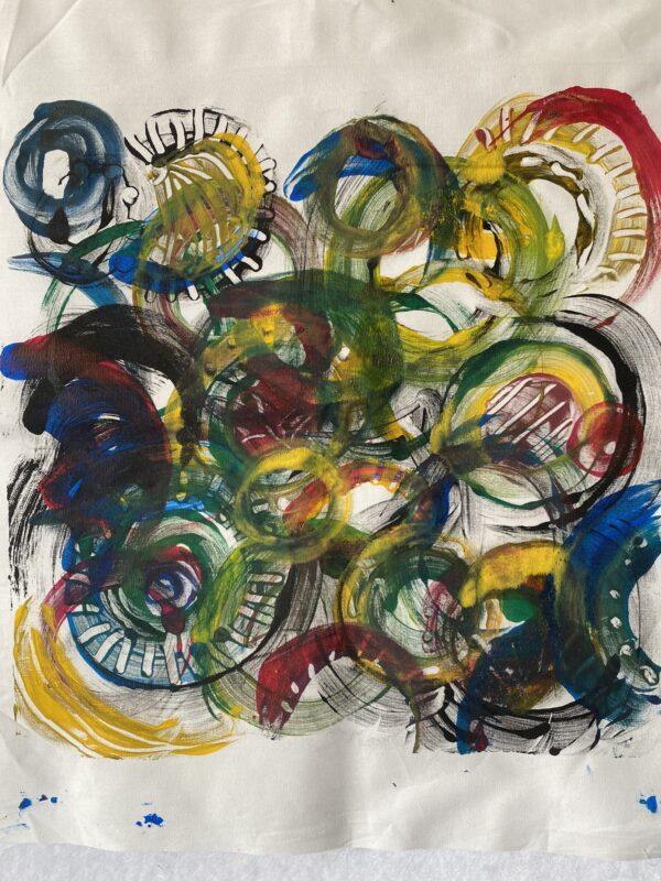 colourful monoprint 1