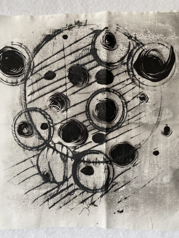 Black and gray monoprint