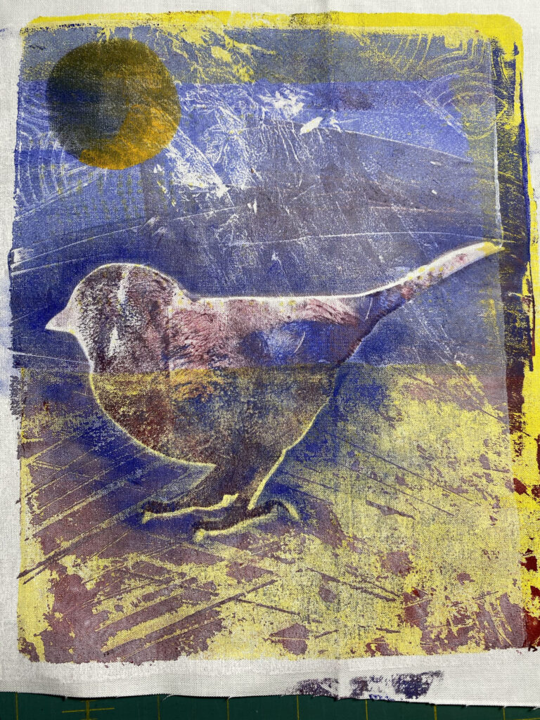 Layers in monoprint