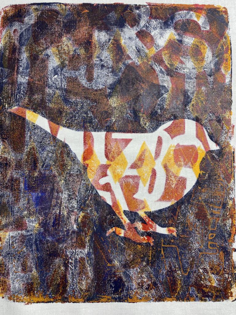 Bird with three monooruinted layers