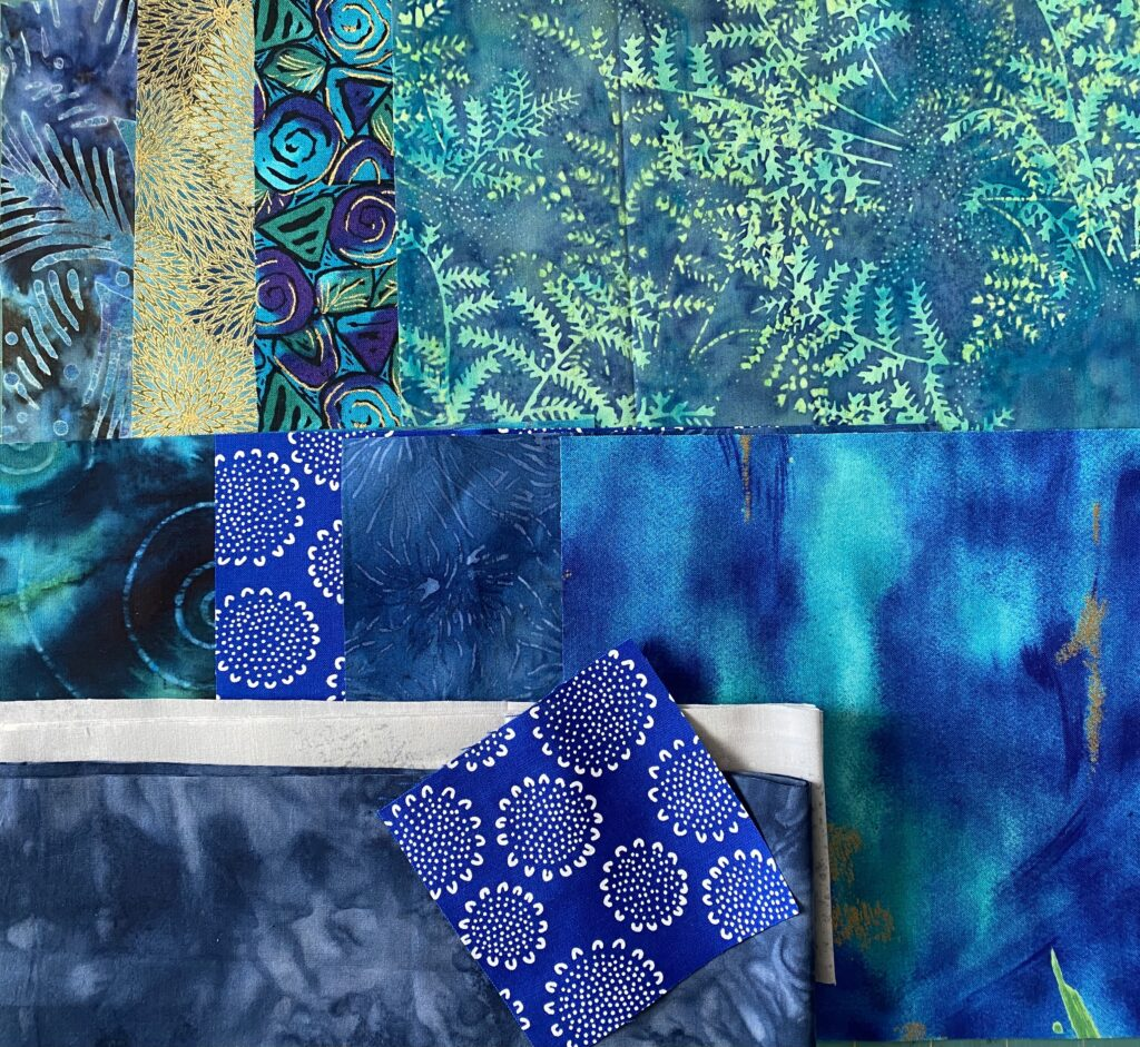 Blues and teals kit for NYB Pillow