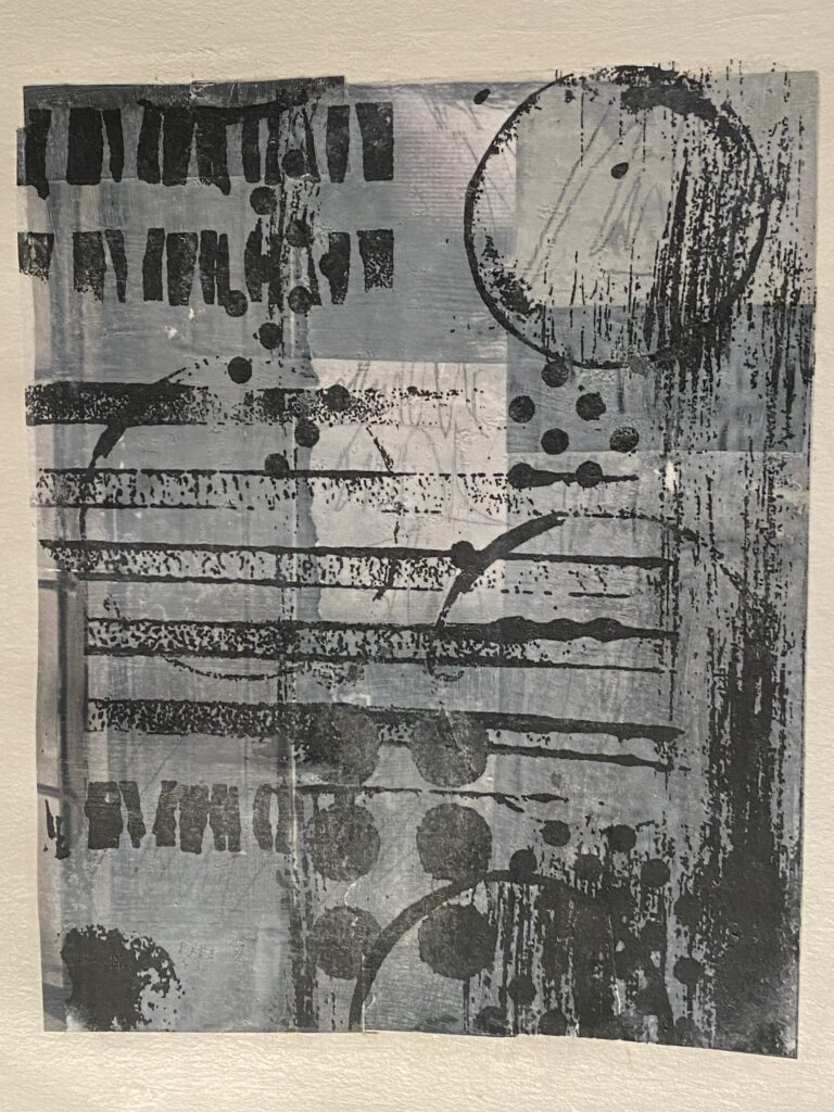 gray collage with transfer